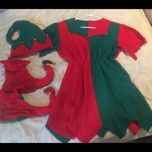 Super Cute Elf Jester Costume Adult M